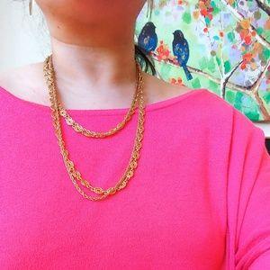Vintage Gold toned Monet Necklace